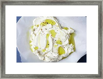 Mascarpone Cheese Framed Print by James And James