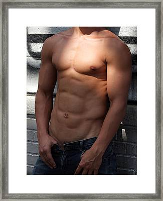 Masculine Photograph Framed Print by Mark Ashkenazi