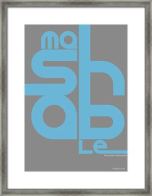 Mashable Poster Framed Print