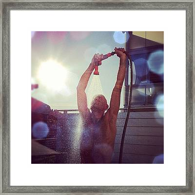@masima65 Needs To Cool Down! Framed Print