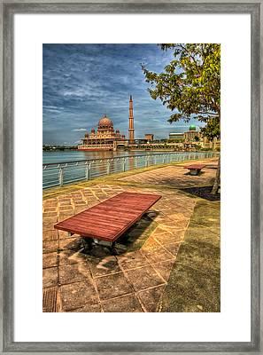Masjid Putra Framed Print by Adrian Evans