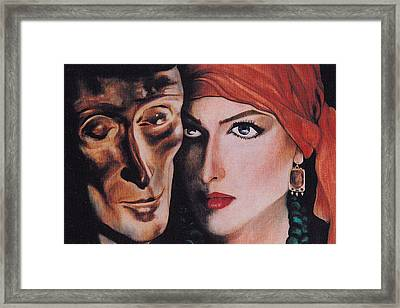 Framed Print featuring the painting Mask And Muse by Irena Mohr