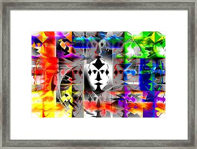 Mask Contemplations Framed Print by AW Sprague II