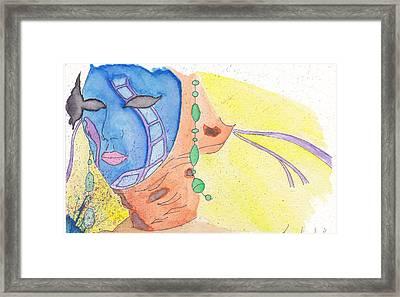 Mask Framed Print by Jona Henshall