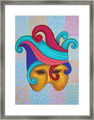 Mask With  Head Dress Framed Print