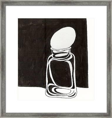 Mason Jar Egg Framed Print by Phil Burns