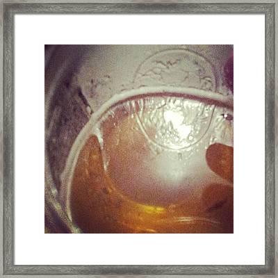 #masonjar #beerflection #beer #corona Framed Print