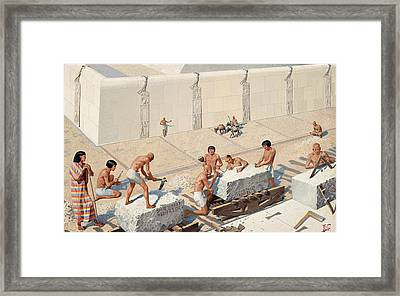Masons Dress And Lay Limestone Blocks Framed Print