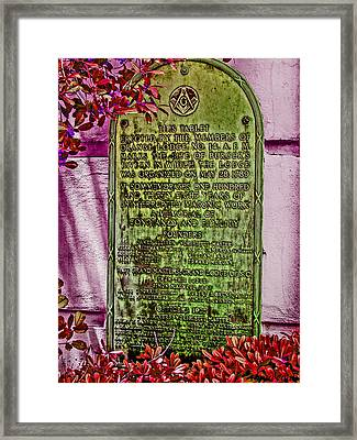 Masons Meeting Place Framed Print