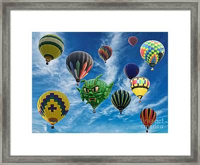 Mass Hot Air Balloon Launch Framed Print by Paul Ward
