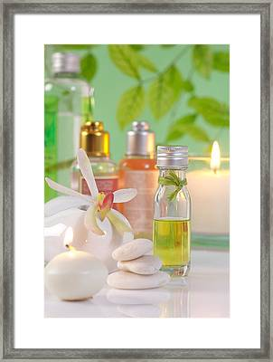Massage Spa Concepts Framed Print by Atiketta Sangasaeng