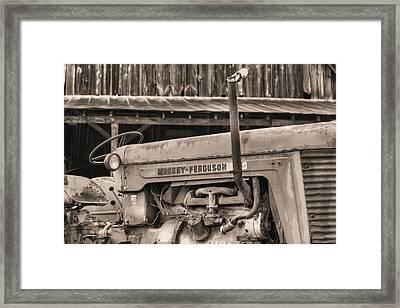 Massey Ferguson Bw Framed Print