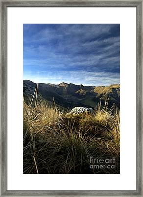 Massif Of Sancy In Auvergne. France Framed Print by Bernard Jaubert