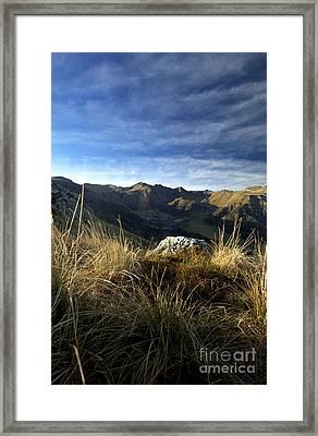 Massif Of Sancy In Auvergne. France Framed Print