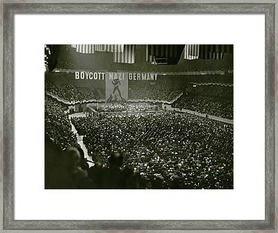 Massive Anti-nazis Demonstration Calls Framed Print by Everett