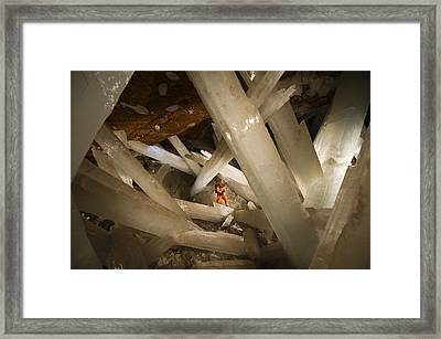 Massive Beams Of Selenite Dwarf An Framed Print