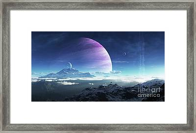 Massive Lei Gong Rises In The Distance Framed Print