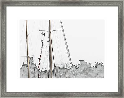 Mast Head Framed Print by Hannah Breidenbach