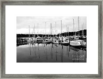 Masts Over And Under Framed Print