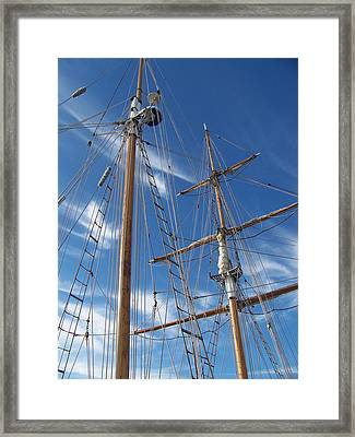 Masts Framed Print