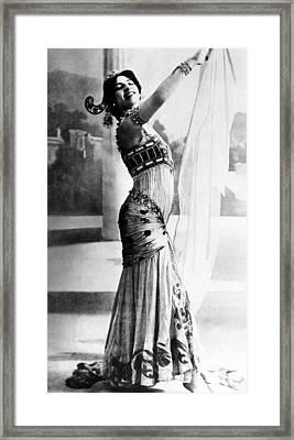 Mata Hari, 1876-1917, Dutch Exotic Framed Print by Everett