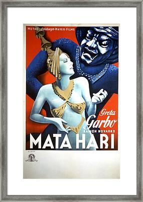 Mata Hari, Greta Garbo, 1931 Framed Print by Everett