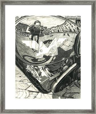 Matchless Moto Framed Print by Norman Bean