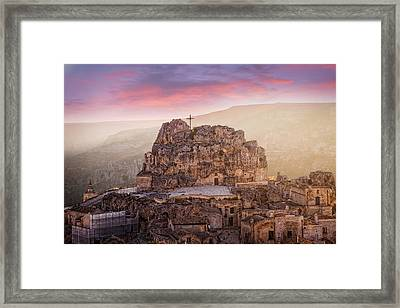 Matera Sassi Framed Print by Michael Avory