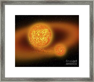 Material Ejected By The Theia Collision Framed Print by Ron Miller