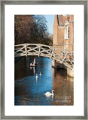 Mathematical Bridge Framed Print by Andrew  Michael