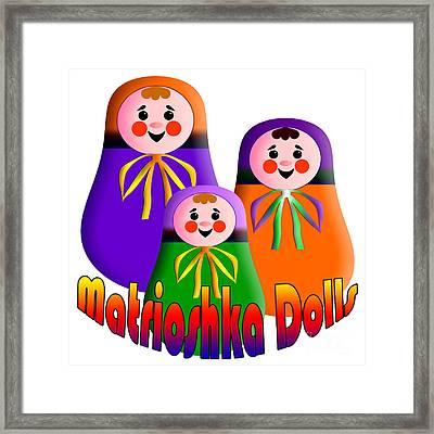 Matrioshka Dolls Framed Print by Zaira Dzhaubaeva