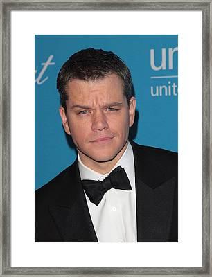 Matt Damon In Attendance For 2009 Framed Print