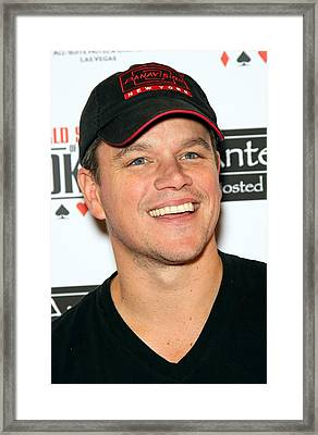 Matt Damon In Attendance For 2010 Ante Framed Print by Everett