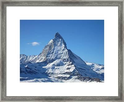 Matterhorn Framed Print by Dion Halliday