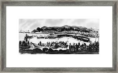 Matthew C. Perry, Arriving In Japan Framed Print by Everett