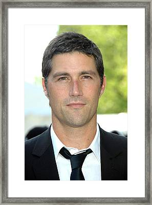 Matthew Fox At Arrivals For Abc Network Framed Print by Everett