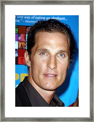 Matthew Mcconaughey At Arrivals For One Framed Print