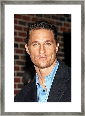Matthew Mcconaughey At Talk Show Framed Print by Everett