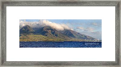 Maui Pano Framed Print by Scott Pellegrin