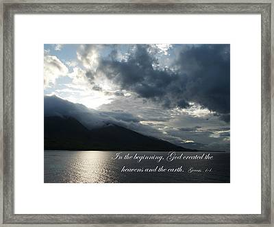 Maui Scripture II Framed Print by Mike Lytle