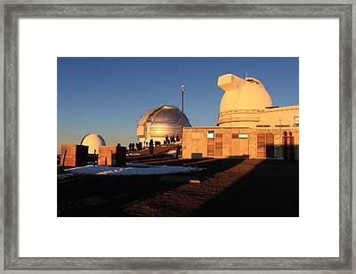 Framed Print featuring the photograph Mauna Kea Observatories by Scott Rackers