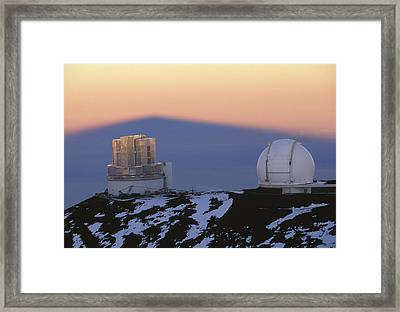 Mauna Kea Observatory, Hawaii Framed Print by G. Brad Lewis