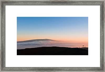 Mauna Loa Sunset Framed Print