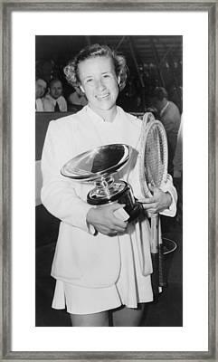 Maureen Connolly, 1934-1969, Was 16 Framed Print by Everett