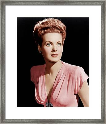 Maureen Ohara, Ca. 1946 Framed Print by Everett