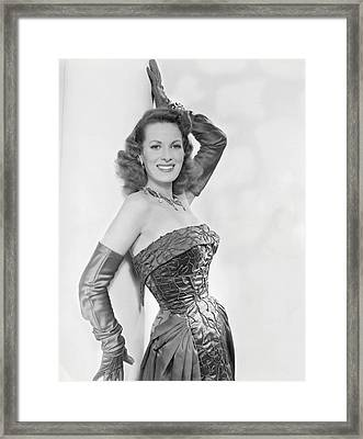 Maureen Ohara, Circa 1954 Framed Print by Everett