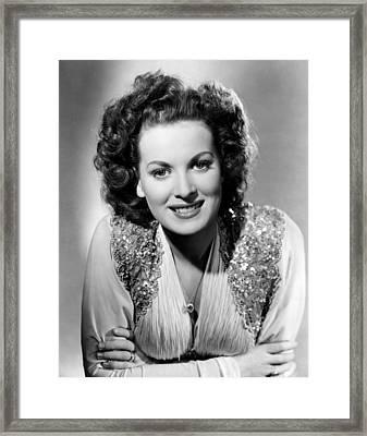 Maureen Ohara, Rko, 1940 Framed Print
