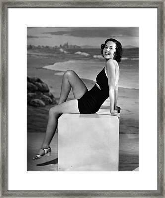 Maureen Osullivan, Ca. 1930s Framed Print by Everett