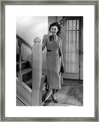 Maureen Osullivan, Mgm Portrait Framed Print by Everett
