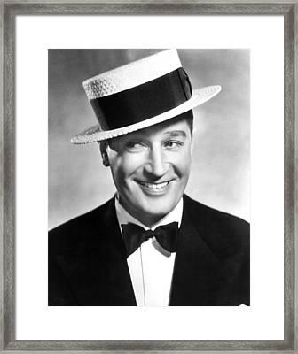 Maurice Chevalier, 1930s Framed Print by Everett